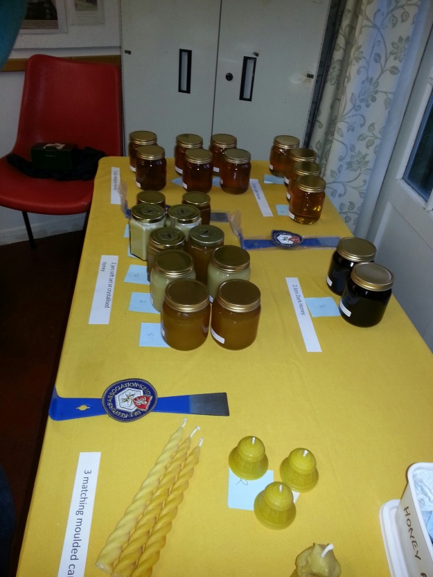 Some of the entries in the 2015 Honey Show